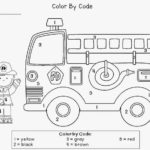 Color By Number Fire Truck Worksheet Hasi i