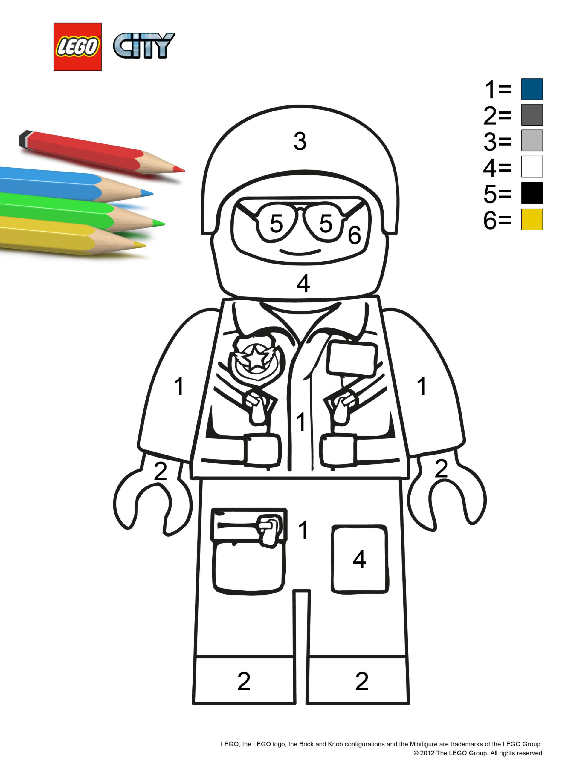 Color By Number Found On The City lego Site Lego