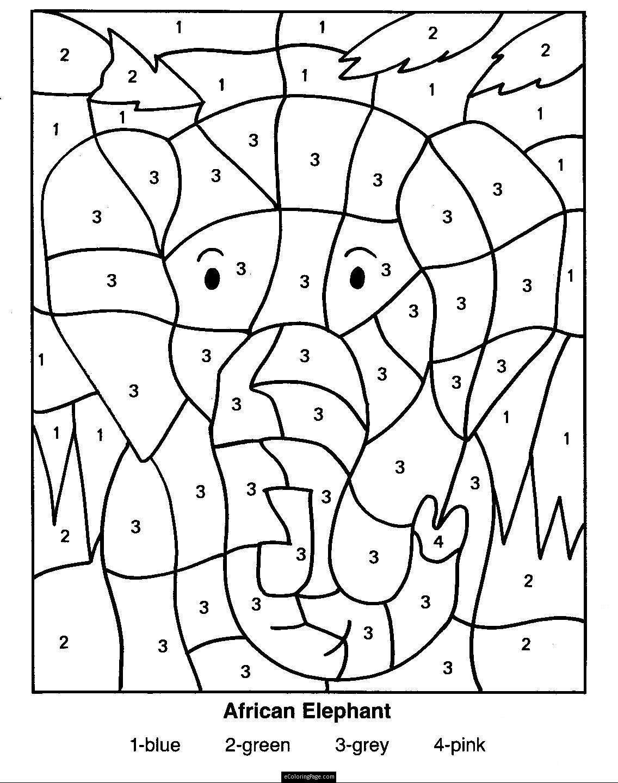 Color By Number Multiplication Worksheets Db excel