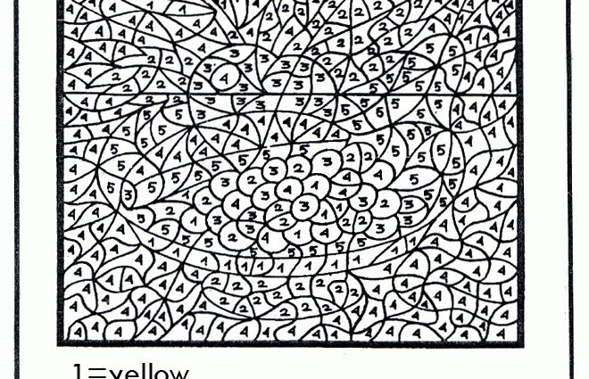 Color by number printables advanced Coloring Pages