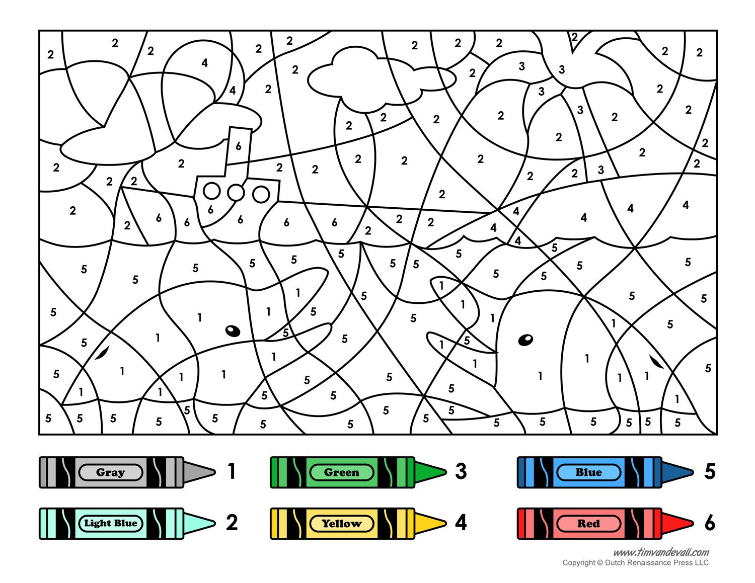 Color By Number Printables Color By Number Printable