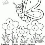 Color By Number Spring Worksheet For Kids Here Is Number
