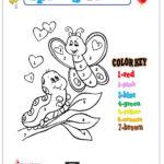 Color By Number Spring Worksheet For Kindergarten