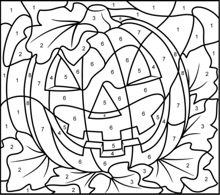 Color By Numbers Halloween