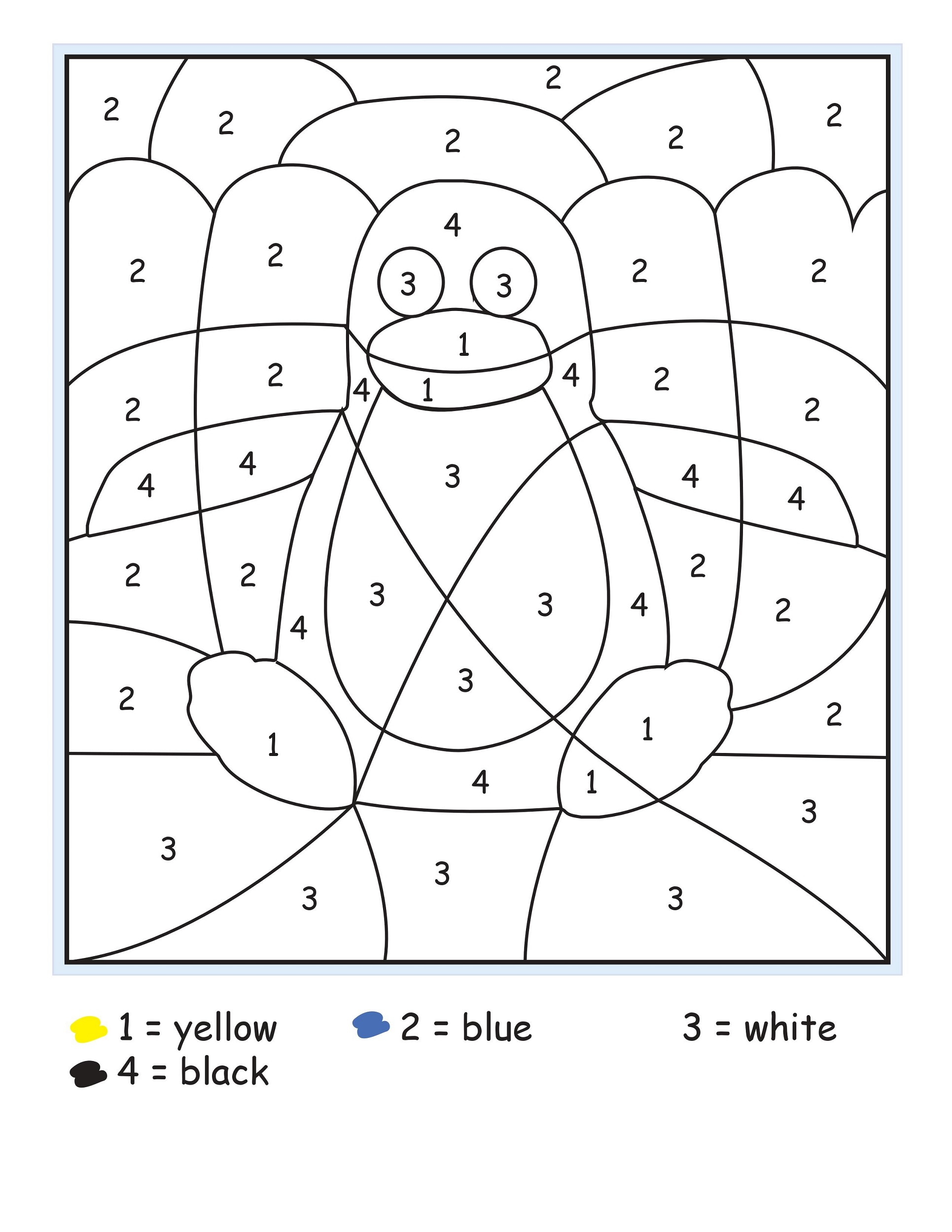 Color By Numbers Sheets Printable Activity Shelter