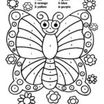 Color By Numbers Worksheets Butterfly K5 Worksheets