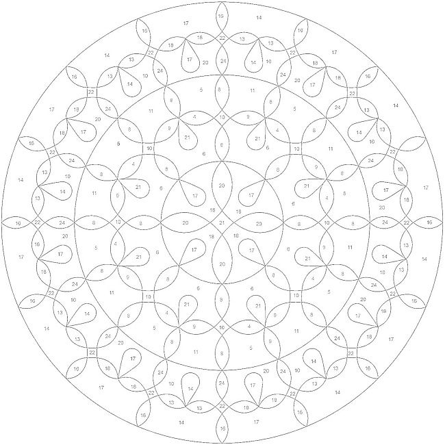 ColorByNumber Mandala Coloring Pages Colouring Adult