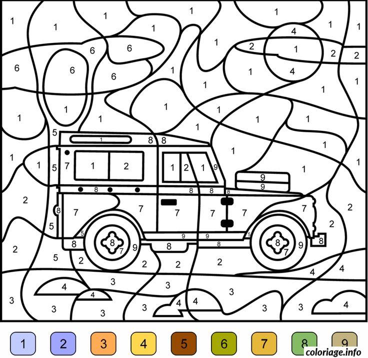 Coloriage Magique Voiture 4x4 Jeep Dessin Imprimer