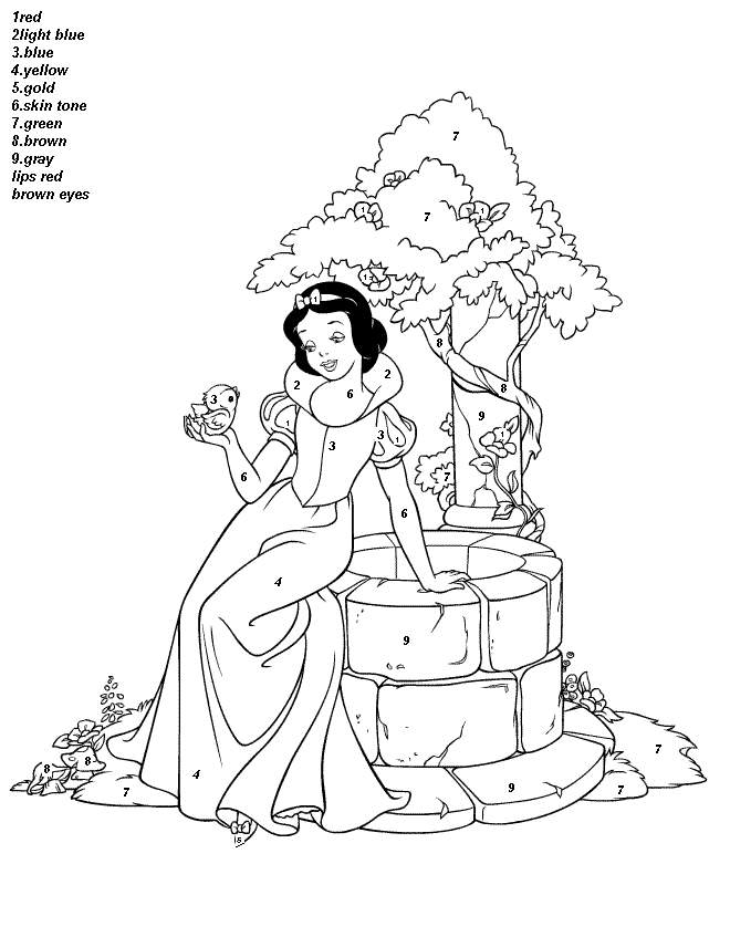 Coloring Pages Color By Numbers Coloring Pages For Kids