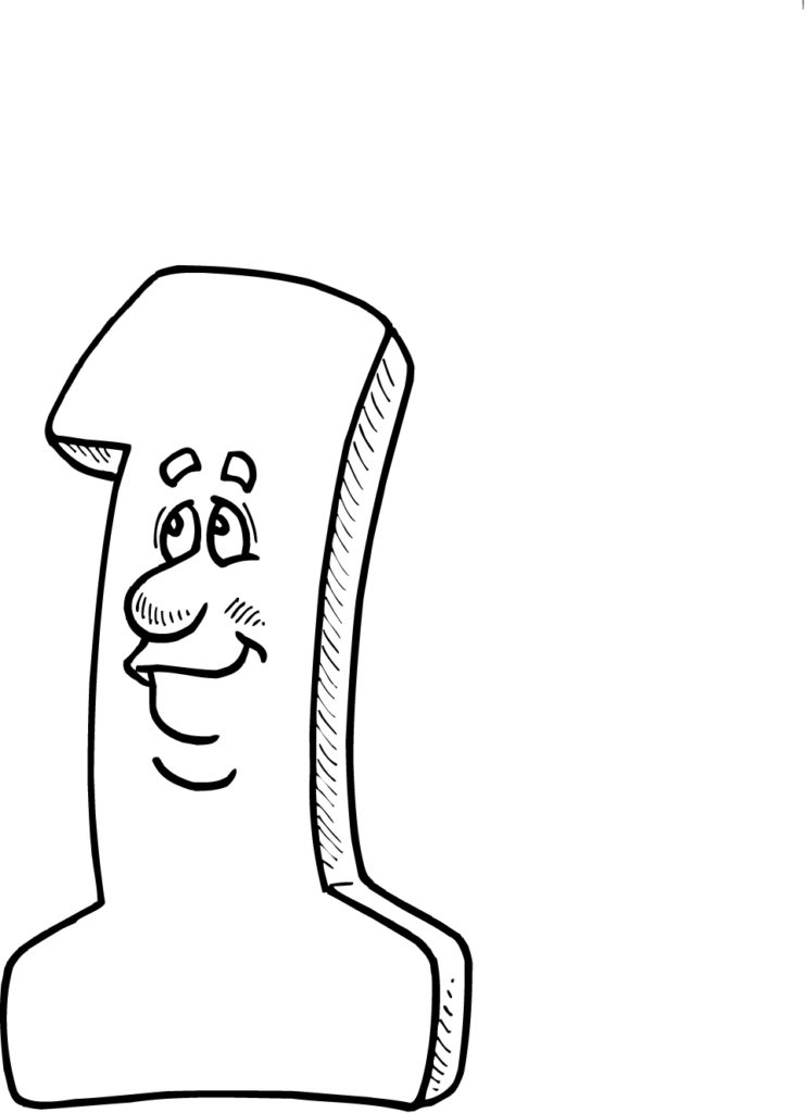 Coloring Pages Coloring Pages Of Number 1 For