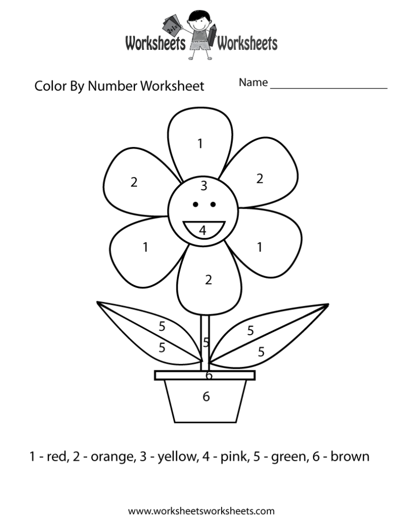 Coloring Pages Easy Color By Number Worksheet Free