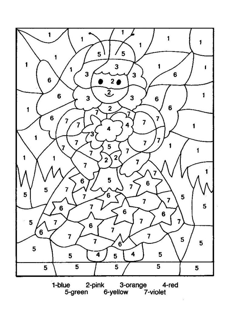 Coloring Pages Free Coloring Pages Of Angel By Number