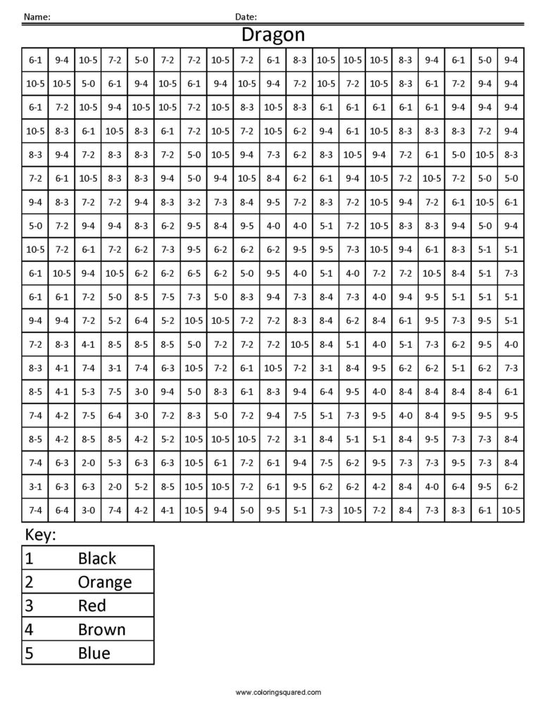 Coloring Pages Halloween Math Coloring Squares Worksheets