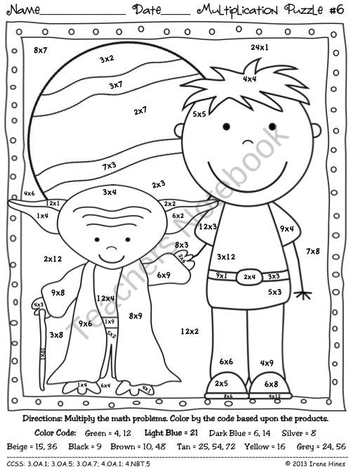 Coloring Pages Star Wars Color By Number Multiplication