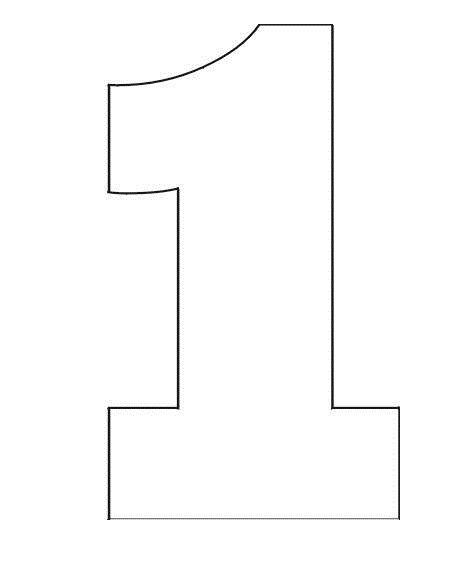 Coloring Pages Stencil Of Number 1 Moldes De Letras
