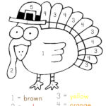 Coloring Pages Thanksgiving Turkey Color By Number Free