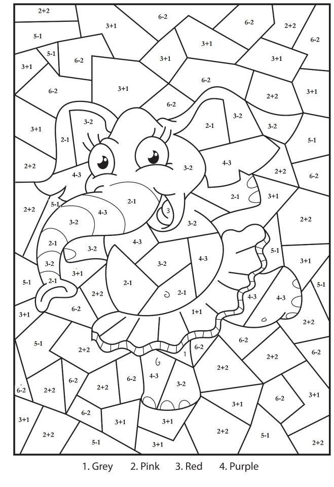 Colour By Maths Math Coloring Math Coloring Worksheets