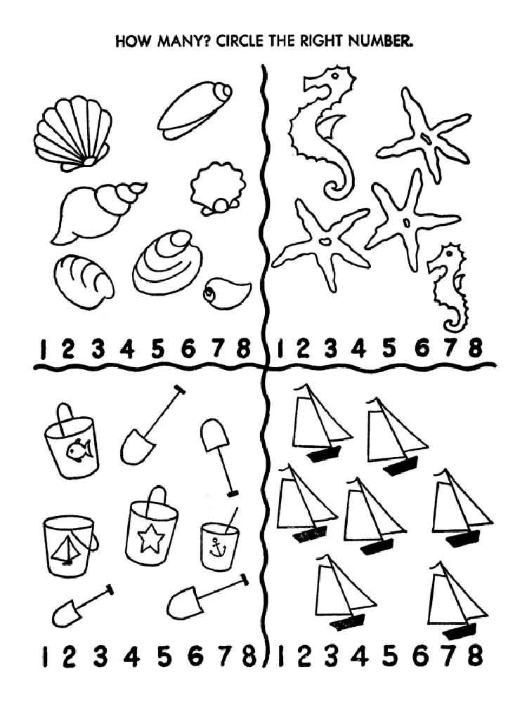 Counting Coloring Pages Free Printable Counting Coloring