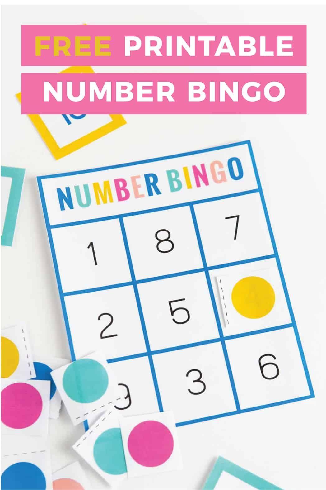 Download This Free Number Bingo Set Help Children Learn