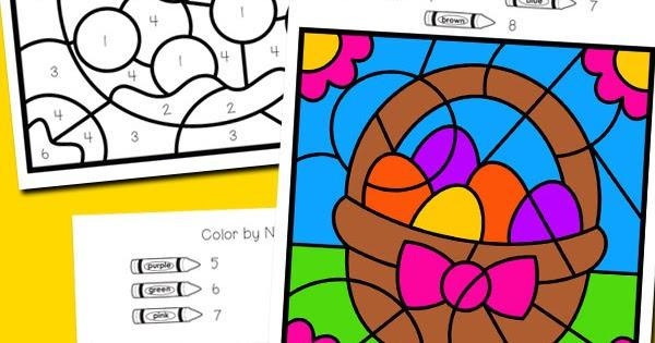 Easter Color By Number Totschooling Toddler Preschool