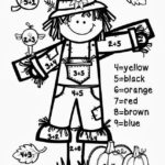 Fall Addition Color By Number Fall Math Math Coloring
