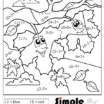 Free Addition And Subtraction Color By Number Page fall