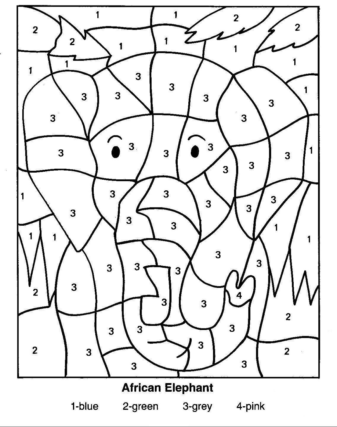 Free Color By Numbers Worksheets Activity Shelter