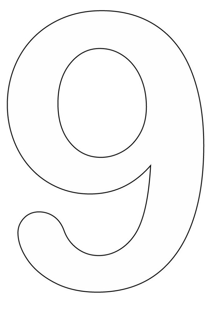 Free Coloring Pages Coloring Pages Of Number 9 Coloring