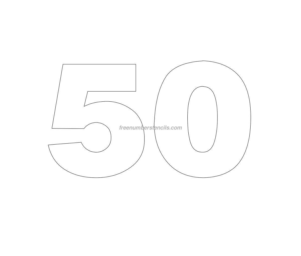 Free Helvetica 50 Number Stencil Freenumberstencils