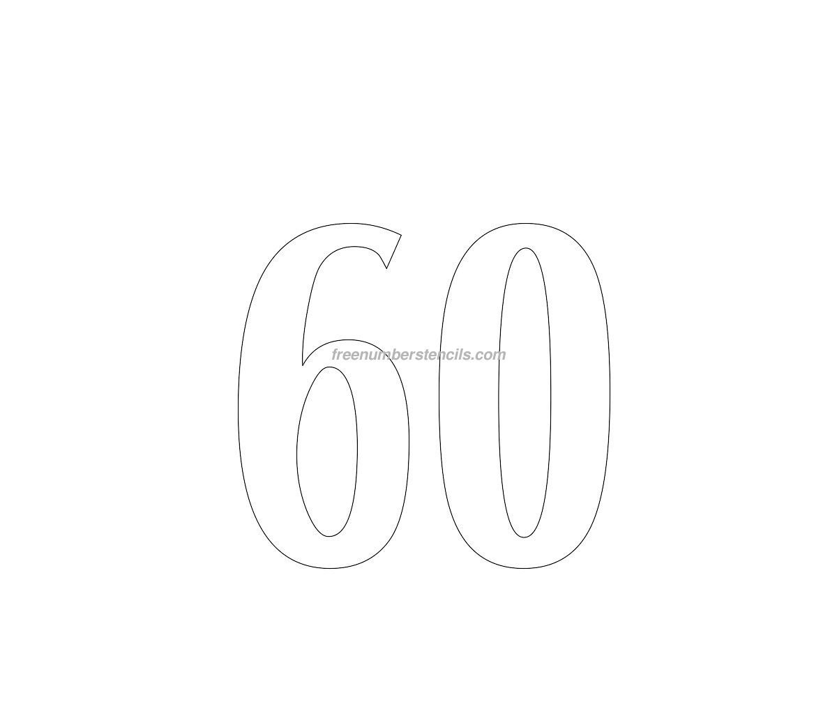 Free House 60 Number Stencil Freenumberstencils