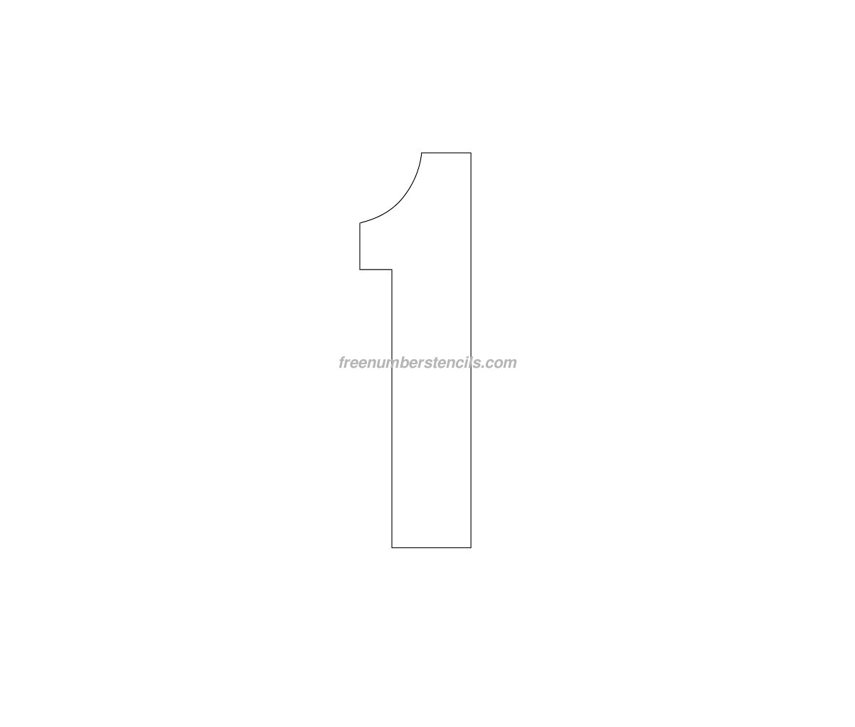 Free Jersey Printable 1 Number Stencil