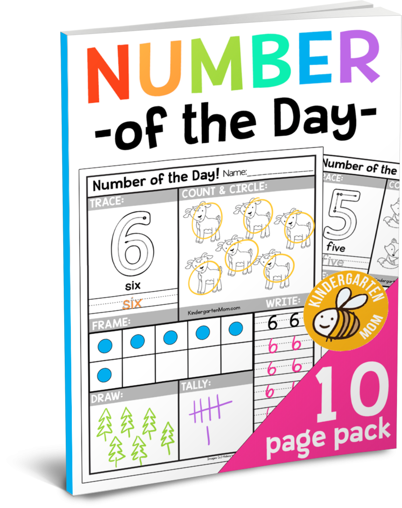 Free Number Of The Day Worksheets Kindergarten Mom