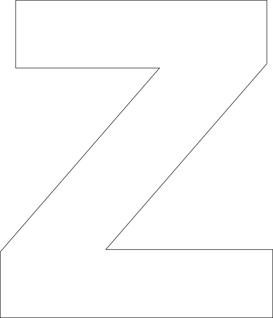 Free Printable Alphabet Template Upper Case