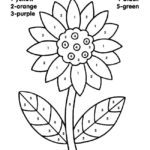 Free Printable Color By Number Coloring Pages Sunflower