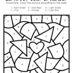 Free Printable Color By Number Earth Day Preschool