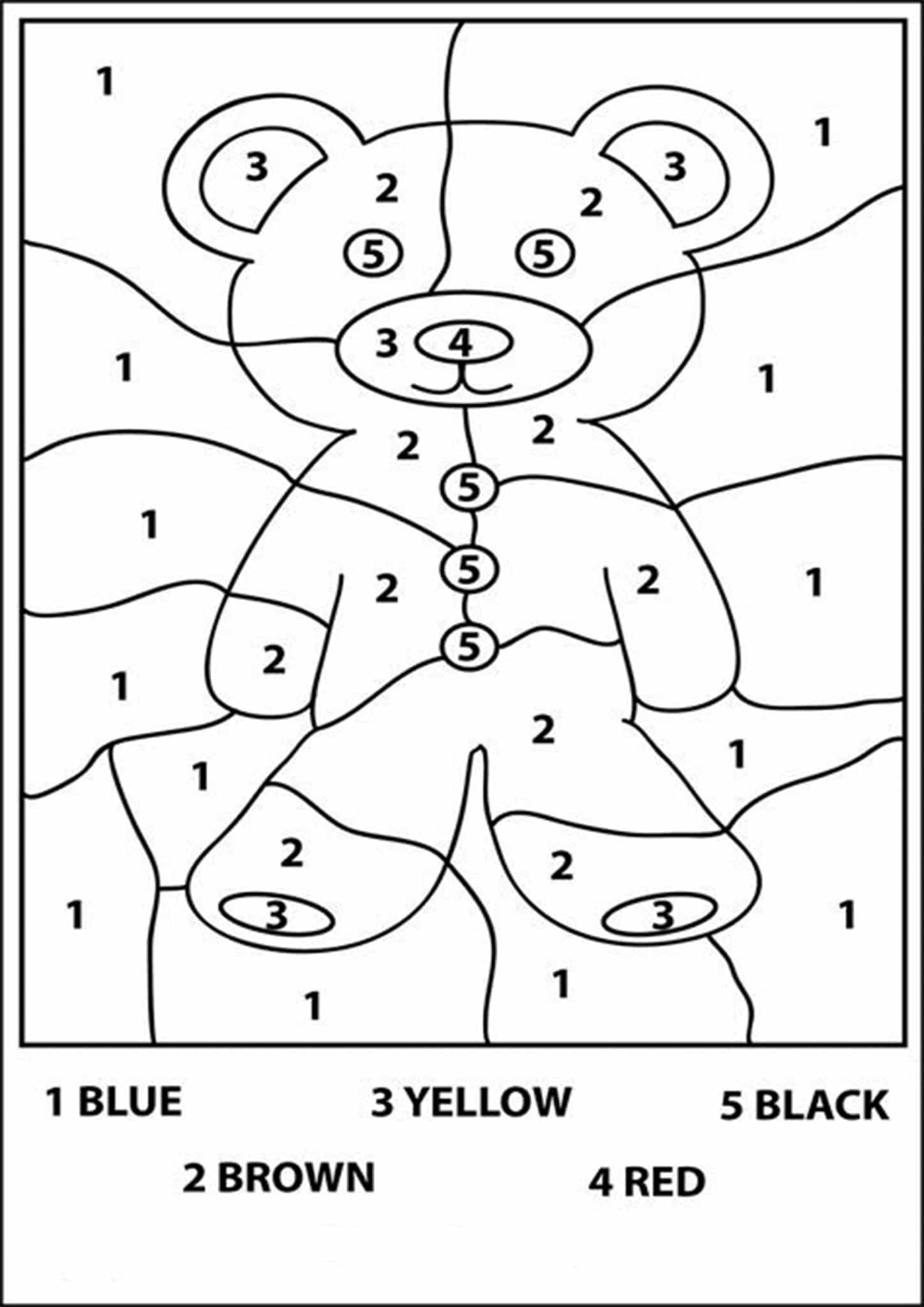 Free Printable Color By Number Worksheets For Kindergarten