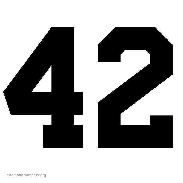 Free Printable Jersey Letters And Numbers Yahoo Image