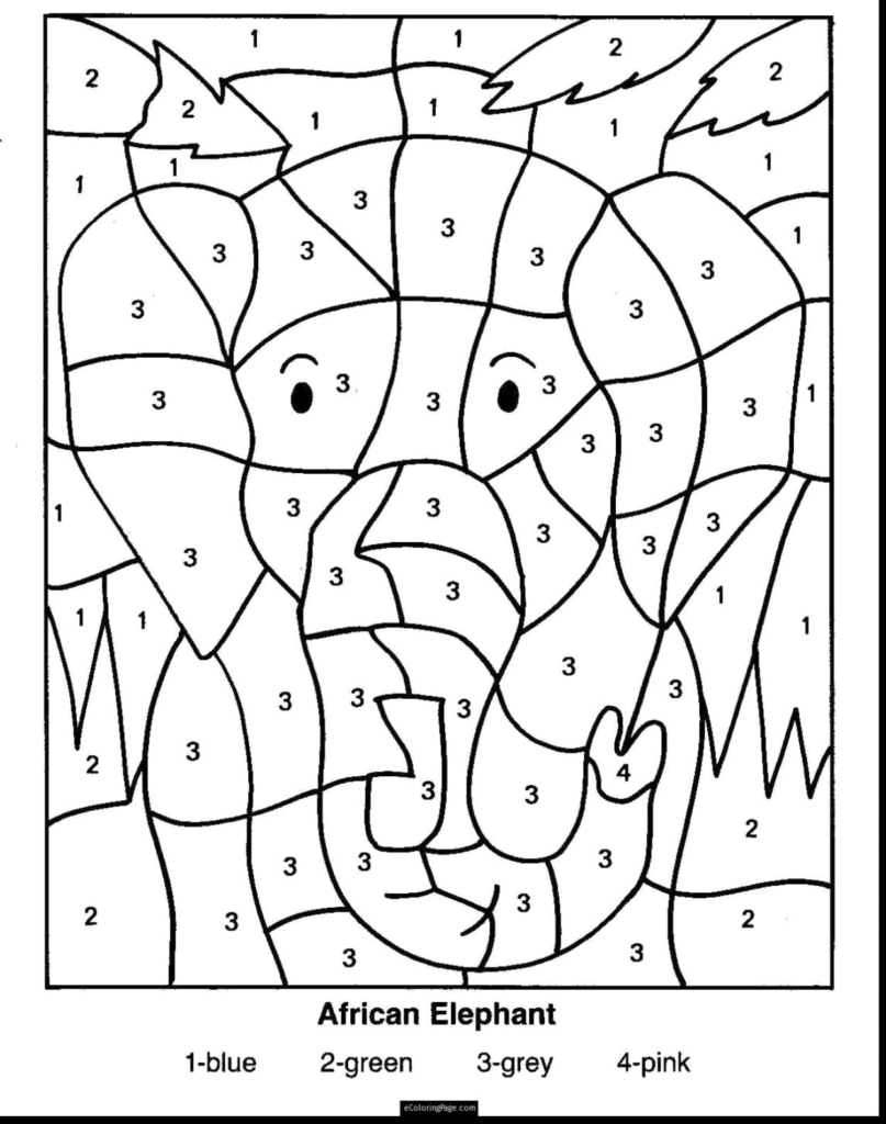 Free Printable Math Coloring Worksheets For 3Rd Grade