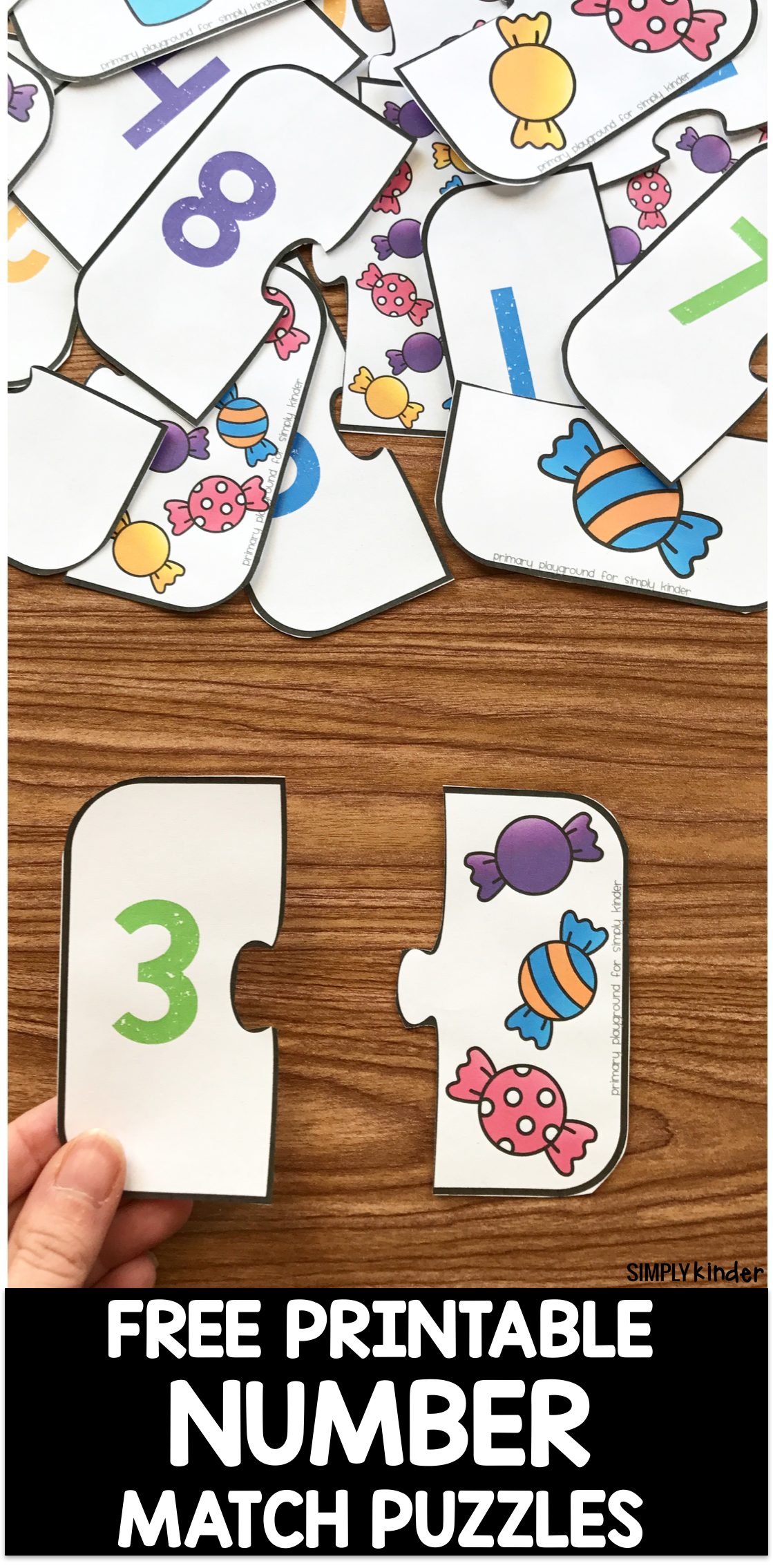 Free Printable Number Match Puzzles Simply Kinder