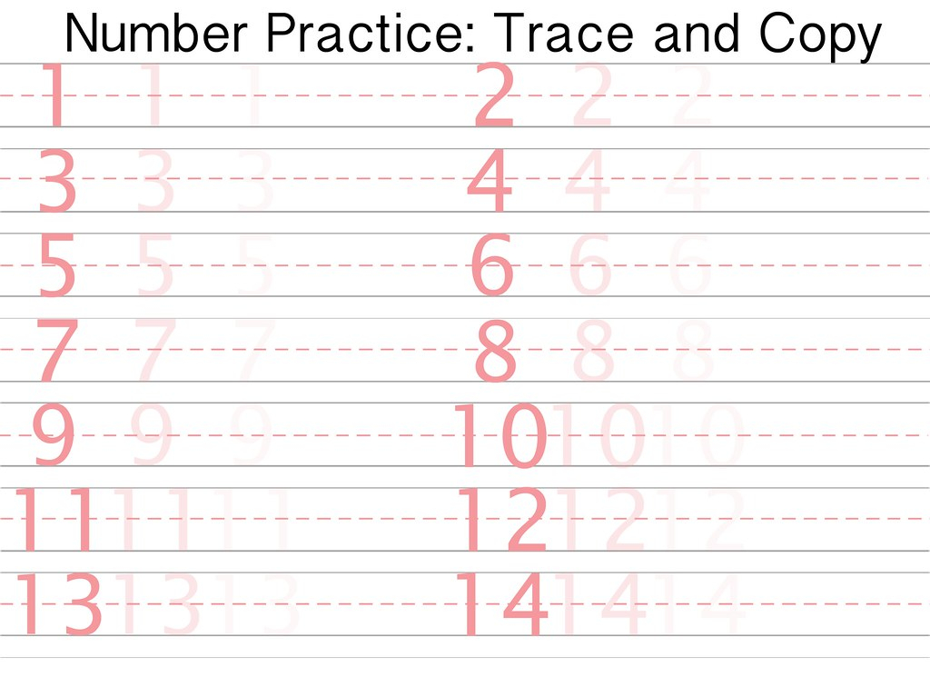 Free Printable Number Writing Practice Sheet Sidther s