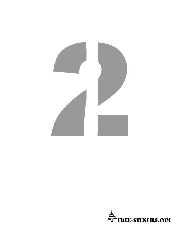 Free Printable Numbers Stencils