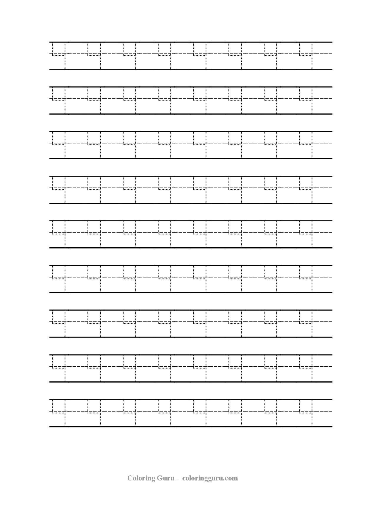 Free Printable Tracing Number 4 Worksheets Coloring