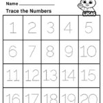 Free Printable Worksheets For Kids Tracing Numbers 1 20