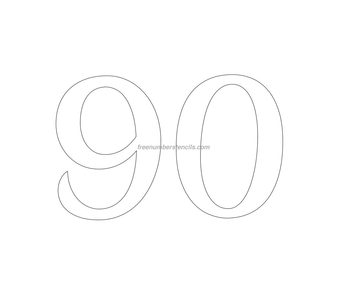 Free Retro 90 Number Stencil Freenumberstencils