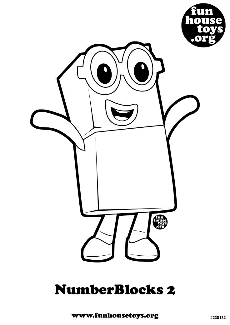 FUN HOUSE TOYS Numberblocks 2 Coloring Pages