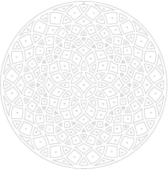Geometric ColorByNumber Mandala Coloring Pages Colouring