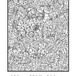 Get This Hard Color By Number Pages For Adults PK73L