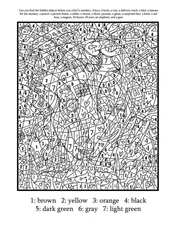 Get This Hard Color By Number Pages For Adults UC51H