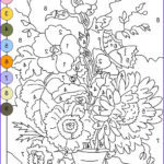 Grown Up Free Printable Color By Number For Adults
