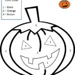 Halloween Color By Number Worksheet Pre made Math